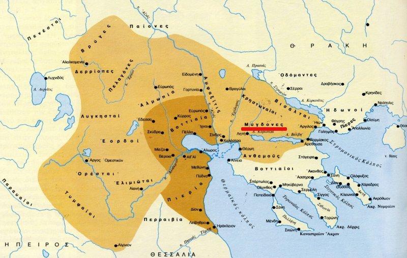 2 maps migdonia Η Μυγδονία και οι Μύγδονες